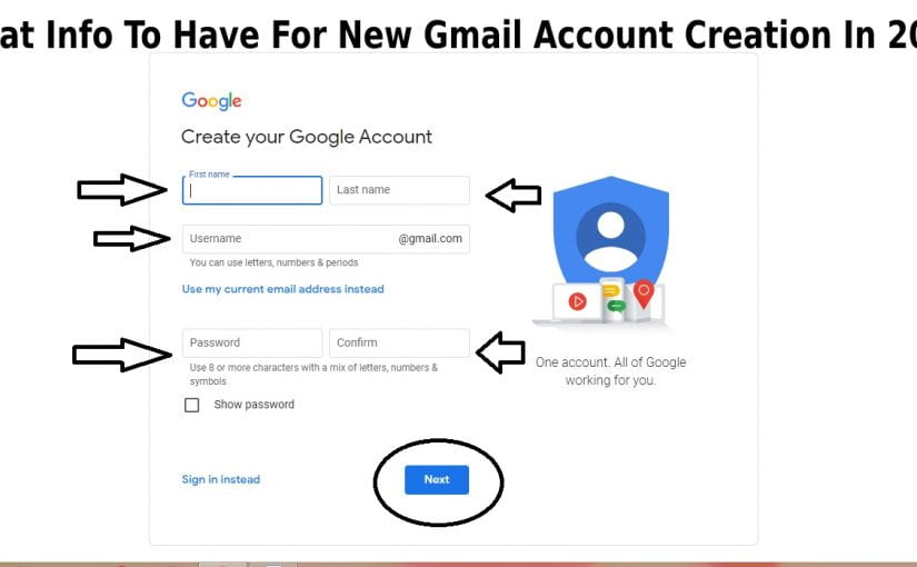 Gmail account creation in 2021